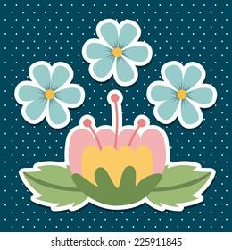 floral graphic design , vector illustration