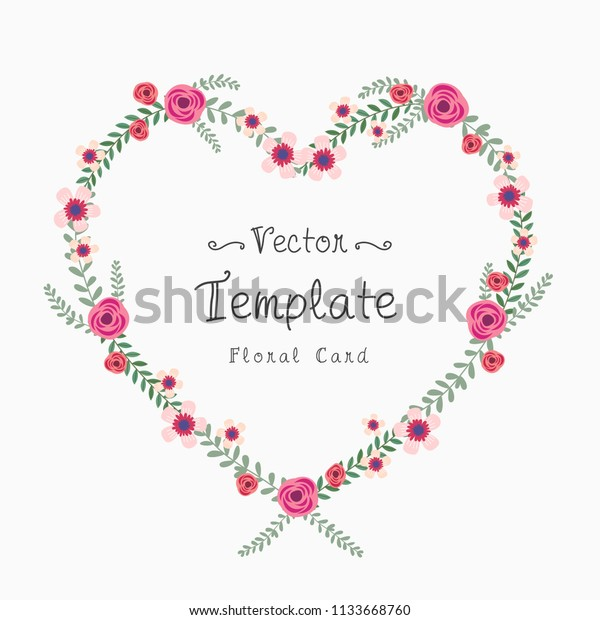 Floral Greeting Card Invitation Template Text Backgrounds