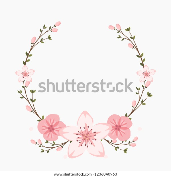 Floral Greeting Card Invitation Template Wedding Stock Vector ...