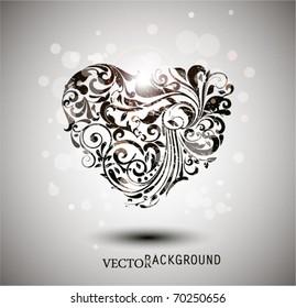 Floral Grunge Heart.