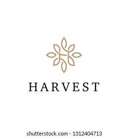 Floral H Logo Design Template