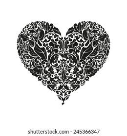 floral heart acanthus leaf pattern