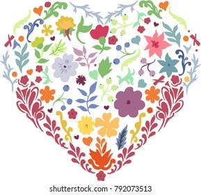 Floral heart design.