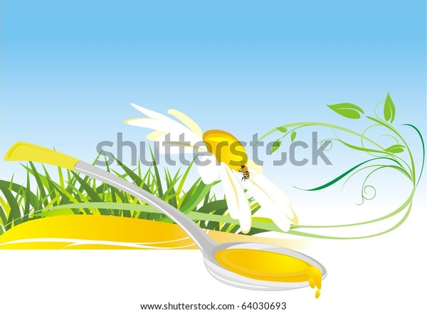 floral-honey-composition-card-vector-600