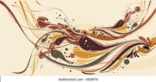 floral illustration,vector