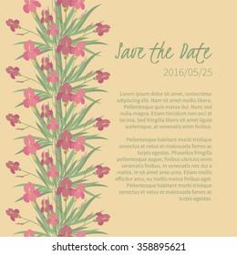 Floral iris retro vintage background, vector illustration
