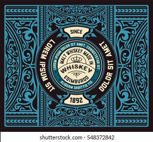 Floral Label for Whiskey packing or other products