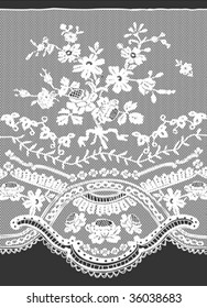floral lace pattern in vector