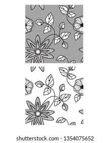 Floral lace repeat vector pattern