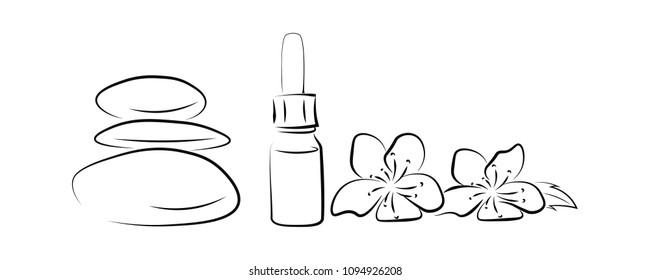 Floral, line art