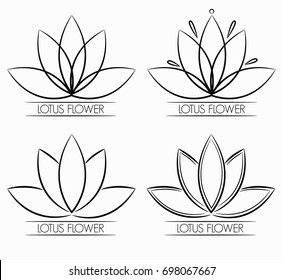 Floral Lotus Flower Logo abstract