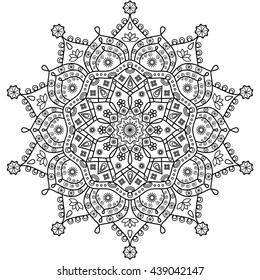 Floral mandala vector pattern.