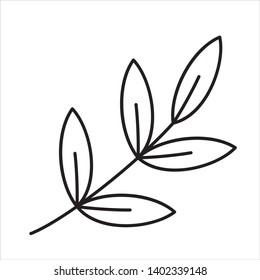 Floral Monoline Vector Black And White