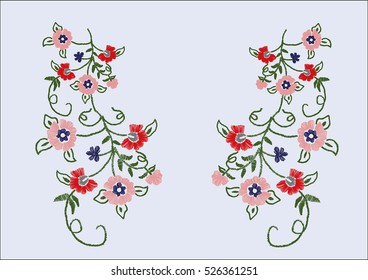 floral motif for fashion