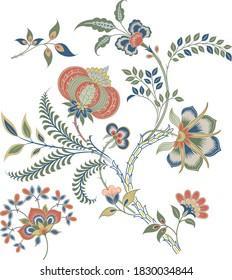 Floral Motif, illustration vector art