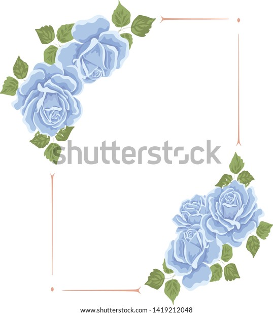 floral nature frame logo template stock vector royalty free 1419212048 shutterstock