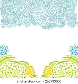 Floral nature pattern background vector illustration