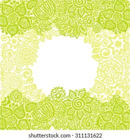 Floral nature pattern card vector illustration