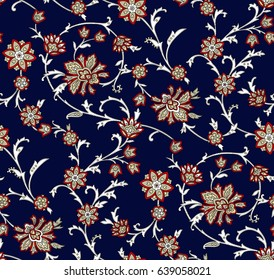 Floral oriental ethnic background