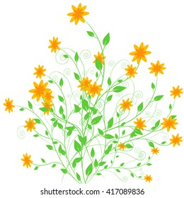 Floral ornament, beautiful background, vector