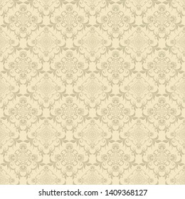 Floral ornament on background. Cute seamless floral pattern. Background design. Vintage vector wallpaper