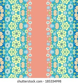 Floral ornament. Seamless pattern can be used for wallpaper, pattern fills, web page background,surface textures.