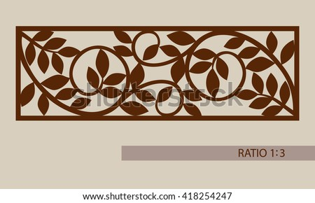 floral ornament template pattern decorative panel のベクター画像