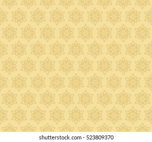 floral ornament for your greeting cards. gold color. vector illustration. Luxury texture for wallpaper, invitation.
