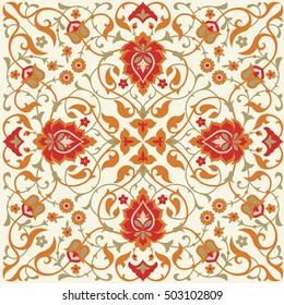 Floral ornamental pattern in eastern style