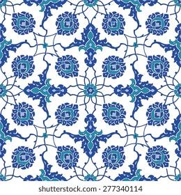 Floral Ornamental pattern. Traditional Arabic seamless ornament.
