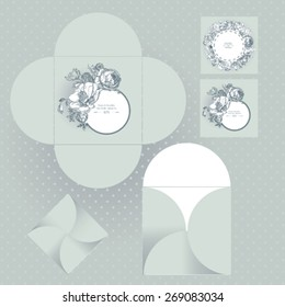 Floral packaging for cd, wedding