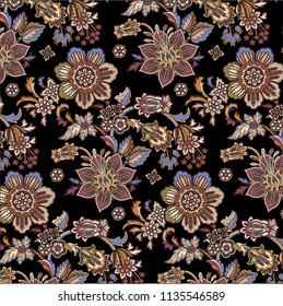 floral and paisley colorful pattern