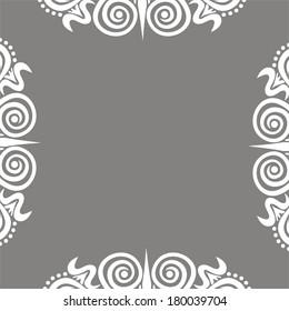 Floral pattern background frame vector illustration