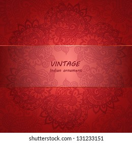 Floral pattern background with indian ornament