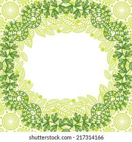 Floral pattern card vector illustration