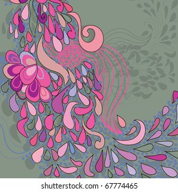 floral pattern. colorful background