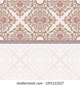 Floral pattern for invitation or greeting card