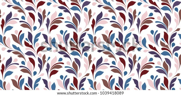 Floral pattern. Plant seamless texture for fabric, wrapping, wallpaper and paper. Decorative print.