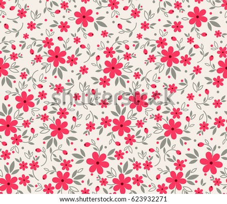 Floral pattern pretty flowers on white stock vector royalty free floral pattern pretty flowers on white background printing with small red flowers ditsy mightylinksfo