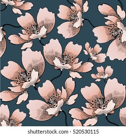 Floral pattern, seamless in vector.