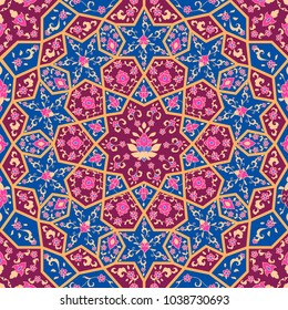 Floral pattern in Victorian style. Ornamental for Card for cafe, shop, print, banner, wedding invitation, book cover, certificate. Save the date. Arabic Dubai turkish India, islamic