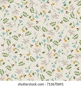 Floral Pattern - Vintage - Vector Background eps10