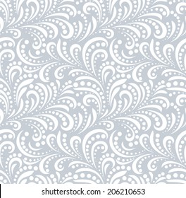 Floral pattern. Wallpaper baroque, damask. Seamless vector background.