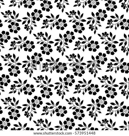 Floral Pattern Wallpaper Baroque Damask Seamless Stock Vektorgrafik