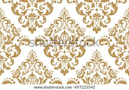 floral pattern wallpaper baroque damask seamless のベクター画像素材