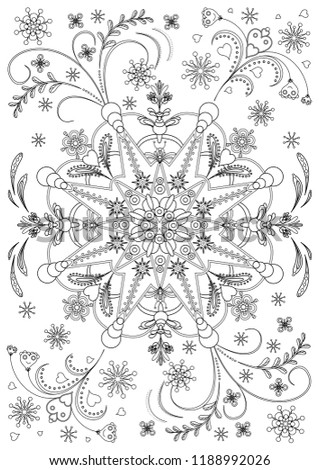 Floral Patterns Coloring Pages Adults Soothing Stock Vector Royalty