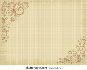 Floral print canvas background, natural colors, fabric texture visible ( for high res JPEG or TIFF see image 12169354 )