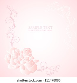 Floral romantic background vector illustration