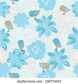 Blue paper wrap flowers images stock photos vectors shutterstock floral seamless mightylinksfo