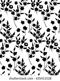 Floral seamless background pattern spring - summer season. Vector illustration for textile, wrapping paper, wallpaper, curtains.